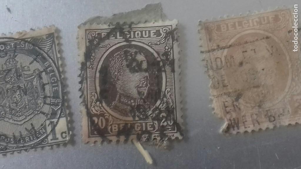 Sellos: LOTE 50 SELLOS BELGICA. MUY ANTIGUOS DE 1890 A 1930. USADOS . VER FOTOS - Foto 10 - 128711787