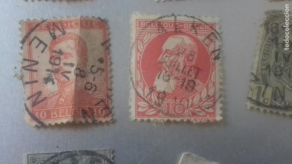 Sellos: LOTE 50 SELLOS BELGICA. MUY ANTIGUOS DE 1890 A 1930. USADOS . VER FOTOS - Foto 8 - 128711787