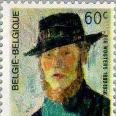 Sellos: BÉLGICA 1966 • YT 1384 • ** NUEVO ** • RIK WOUTERS, PINTOR. Lote 137192321