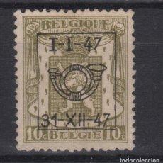 Sellos: 1947 BELGICA BELGIUM BELGIE PRECANCELADO 10C RRR (. Lote 132946202
