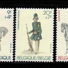 Sellos: BELGICA 2030/32** - AÑO 1981 - UNIFORMES MILITARES. Lote 133917790