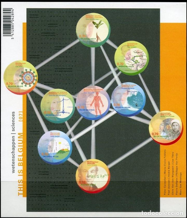 SELLOS BELGICA 2007 THIS IS BELGIUM CIENCIA FACIAL 6,30 EUROS (Sellos - Extranjero - Europa - Bélgica)