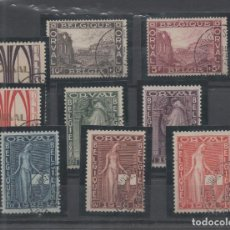 Sellos: BELGICA=YVERT Nº 258/66_ABADIA DE ORVAL MATASELLADA_VALOR 80 EUROS_VER FOTOS. Lote 137915578