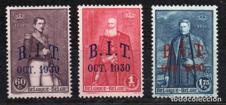 BÉLGICA AÑO 1930 YV 305/07*** REUNIÓN OFICINA INTERNACIONAL DEL TRABAJO - REYES BELGAS - PERSONAJES (Sellos - Extranjero - Europa - Bélgica)
