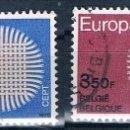 Sellos: BELGICA 1970 SERIE USADA YVES 1530/1531. Lote 144517130