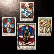 Sellos: BÉLGICA. YVERT 1519/22 SERIE COMPLETA NUEVA SIN CHARNELA. VIDRIERAS. ÁNGELES.. Lote 147552740