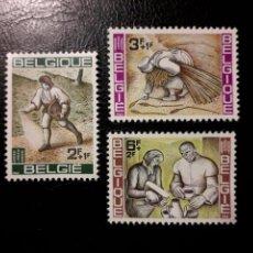 Sellos: BÉLGICA. YVERT 1243/5 SERIE COMPLETA NUEVA SIN CHARNELA. CAMPAÑA CONTRA EL HAMBRE. AGRICULTURA.. Lote 147552748