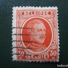 Sellos: BELGICA, 1921, ALBERTO I, YVERT 199. Lote 147591922