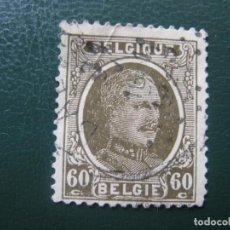Sellos: BELGICA, 1927, ALBERTO I, YVERT 255 . Lote 147592338