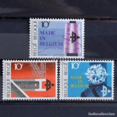 Sellos: BÉLGICA 1983 ~ EXPORTACIÓN MADE IN BELGIUM ~ SERIE CON FIJASELLO LUJO. Lote 148229658