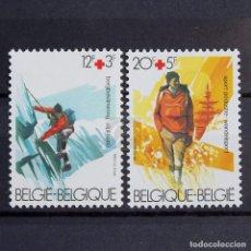 Sellos: BÉLGICA 1983 ~ CRUZ ROJA ~ SERIE CON FIJASELLO LUJO. Lote 148237650