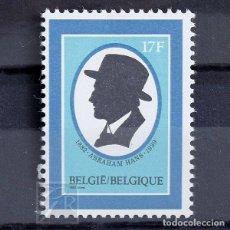 Sellos: BÉLGICA 1982 ~ ESCRITOR ABRAHAM HANS ~ SELLO NUEVO MNH LUJO. Lote 148277934