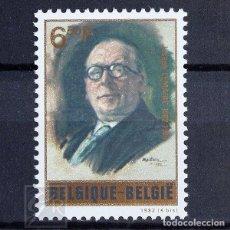 Sellos: BÉLGICA 1982 ~ POLÍTICO JOSE LEMAIRE ~ SELLO NUEVO MNH LUJO. Lote 148372038