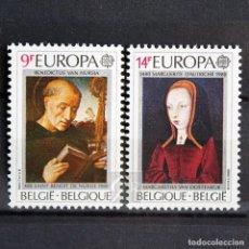 Sellos: BÉLGICA 1980 ~ EUROPA ~ SERIE NUEVA MNH LUJO. Lote 148750998