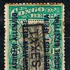 Sellos: OCUPACIÓN BELGA DEL AFRICA OCCIDENTAL ALEMANA Nº 19, CON TASA, USADO. Lote 148948558
