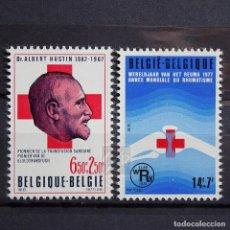 Sellos: BÉLGICA 1977 ~ CRUZ ROJA ~ SERIE NUEVA MNH LUJO. Lote 149110314