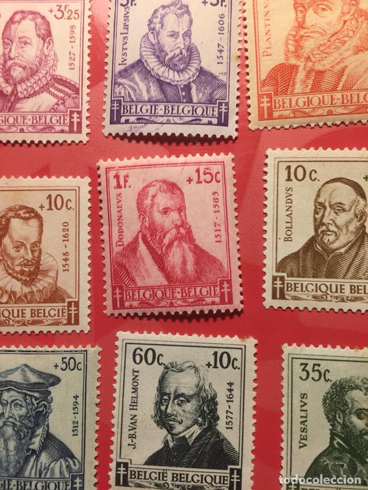 BÉLGICA YVERT 593/601 NUEVO SOMBRAS DEL TIEMPO SERIE COMPLETA (Sellos - Extranjero - Europa - Bélgica)
