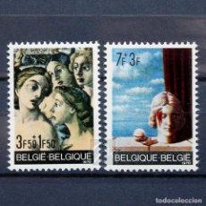 Sellos: BÉLGICA 1970 ~ ARTE: PINTURAS ~ SERIE NUEVA MNH LUJO. Lote 149627754