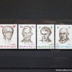 Sellos: BÉLGICA 1970 ~ CULTURA: PERSONAJES ~ SERIE NUEVA MNH LUJO. Lote 149628446
