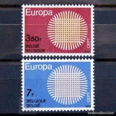 Sellos: BÉLGICA 1970 ~ EUROPA ~ SERIE NUEVA MNH LUJO. Lote 149841706