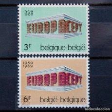 Sellos: BÉLGICA 1969 ~ EUROPA ~ SERIE NUEVA MNH LUJO. Lote 149884634