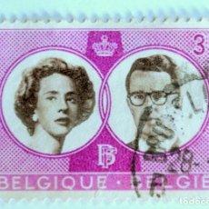 Sellos: SELLO POSTAL BELGICA 1960, 3 FR, BODA REAL BOUDEWIJN Y FABIOLA, CONMEMORATIVO, USADO. Lote 150054162