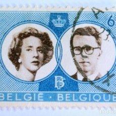 Sellos: SELLO POSTAL BELGICA 1960, 6 FR, BODA REAL BOUDEWIJN Y FABIOLA, CONMEMORATIVO, USADO. Lote 150054386