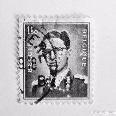 Sellos: SELLO POSTAL BELGICA 1966, 1,50 F, REY BAUDOUIN I , USADO. Lote 150183322