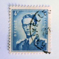 Sellos: SELLO POSTAL BELGICA 1966, 4 F, REY BAUDOUIN I , USADO. Lote 150184506