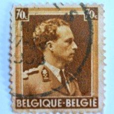 Sellos: SELLO POSTAL BELGICA 1936,70 C, REY LEOPOLD III, USADO. Lote 150184946
