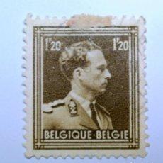 Sellos: SELLO POSTAL BELGICA 1951 1,20 FR, REY LEOPOLD III, USADO. Lote 150186534