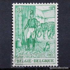 Sellos: BÉLGICA 1965 ~ DÍA DEL SELLO ~ SELLO NUEVO MNH BUENO. Lote 150276326
