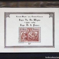 Sellos: BÉLGICA 1964 ~ PRO CULTURA ~ HOJITA CON FIJASELLO BUENO. Lote 150287454