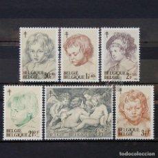 Sellos: BÉLGICA 1963 ~ ARTE: TRABAJOS DE RUBENS ~ SERIE NUEVA MNH LUJO. Lote 150295414