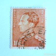 Sellos: SELLO POSTAL BELGICA 1946 , 10 FR, REY LEOPOLD III, USADO. Lote 150301330