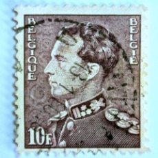 Sellos: SELLO POSTAL BELGICA 1951 , 10 FR, REY LEOPOLD III, USADO. Lote 150301758