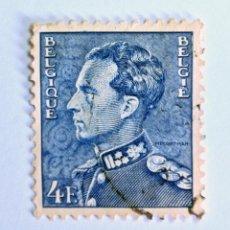 Sellos: SELLO POSTAL BELGICA 1950 , 4 FR, REY LEOPOLD III, USADO. Lote 150302262