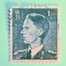 Sellos: SELLO POSTAL BELGICA 1952 , 1,50 FR, REY BAUDOUIN, USADO. Lote 150302942