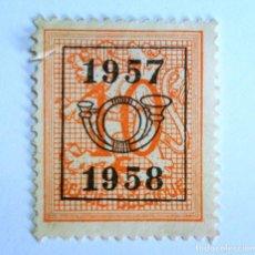 Sellos: SELLO POSTAL BELGICA 1957 , 10 C, PRECANCELADO NÚMERO CON LÉON HERALDICO, SIN USAR. Lote 150305134