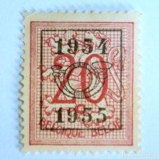 Sellos: SELLO POSTAL BELGICA 1954 , 20 C, PRECANCELADO, NÚMERO SOBRE LEÓN HERALDICO, SIN USAR. Lote 150306490