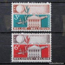 Sellos: BÉLGICA 1961 ~ CONFERENCIA DE LA UNIÓN INTERPARLAMENTARIA ~ SERIE CON FIJASELLO BUENO. Lote 150621290