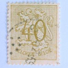 Sellos: SELLO POSTAL BELGICA 1951 , 40 C, NÚMERO SOBRE LEÓN HERALDICO, USADO. Lote 150650682