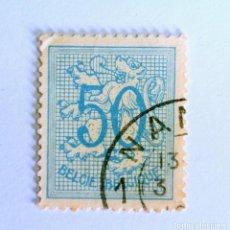 Sellos: SELLO POSTAL BELGICA 1951 , 50 C, NÚMERO SOBRE LEÓN HERALDICO, USADO. Lote 150652614