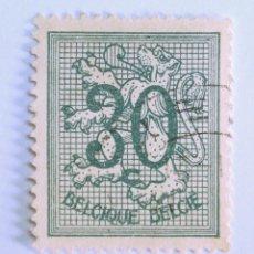 Sellos: SELLO POSTAL BELGICA 1957 , 30 C, NÚMERO SOBRE LEÓN HERALDICO, USADO. Lote 150653194