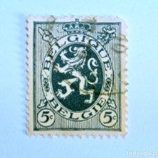 Sellos: SELLO POSTAL BELGICA 1929 , 5 C, LEÓN HERALDICO, USADO. Lote 150687230