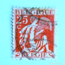 Sellos: SELLO POSTAL BELGICA 1932 , 25 C, CERES, USADO. Lote 150687698