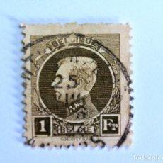 Sellos: SELLO POSTAL BELGICA 1922 , 1 F, REY ALBERT I, USADO. Lote 150704846