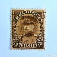 Sellos: SELLO POSTAL BELGICA 1932 , 75 C, REY ALBERT I, USADO. Lote 150705346