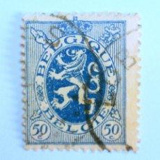 Sellos: SELLO POSTAL BELGICA 1929 , 50 C, LEON HERALLDICO, USADO. Lote 150706002
