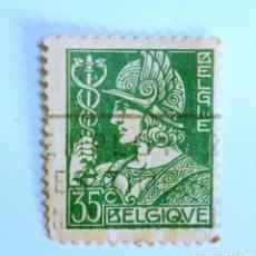 Sellos: SELLO POSTAL BELGICA 1932, 35 C, MERCURIO, USADO. Lote 150729214